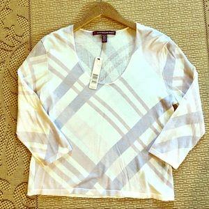 NWT Company Ellen Tracy 3/4 length sleeve in P L
